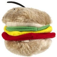 Booda Soft Bite Medium Hamburger Plush Dog Toy