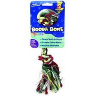 Booda Multi Color 2-Knot Rope Bone Dog Toy, Small