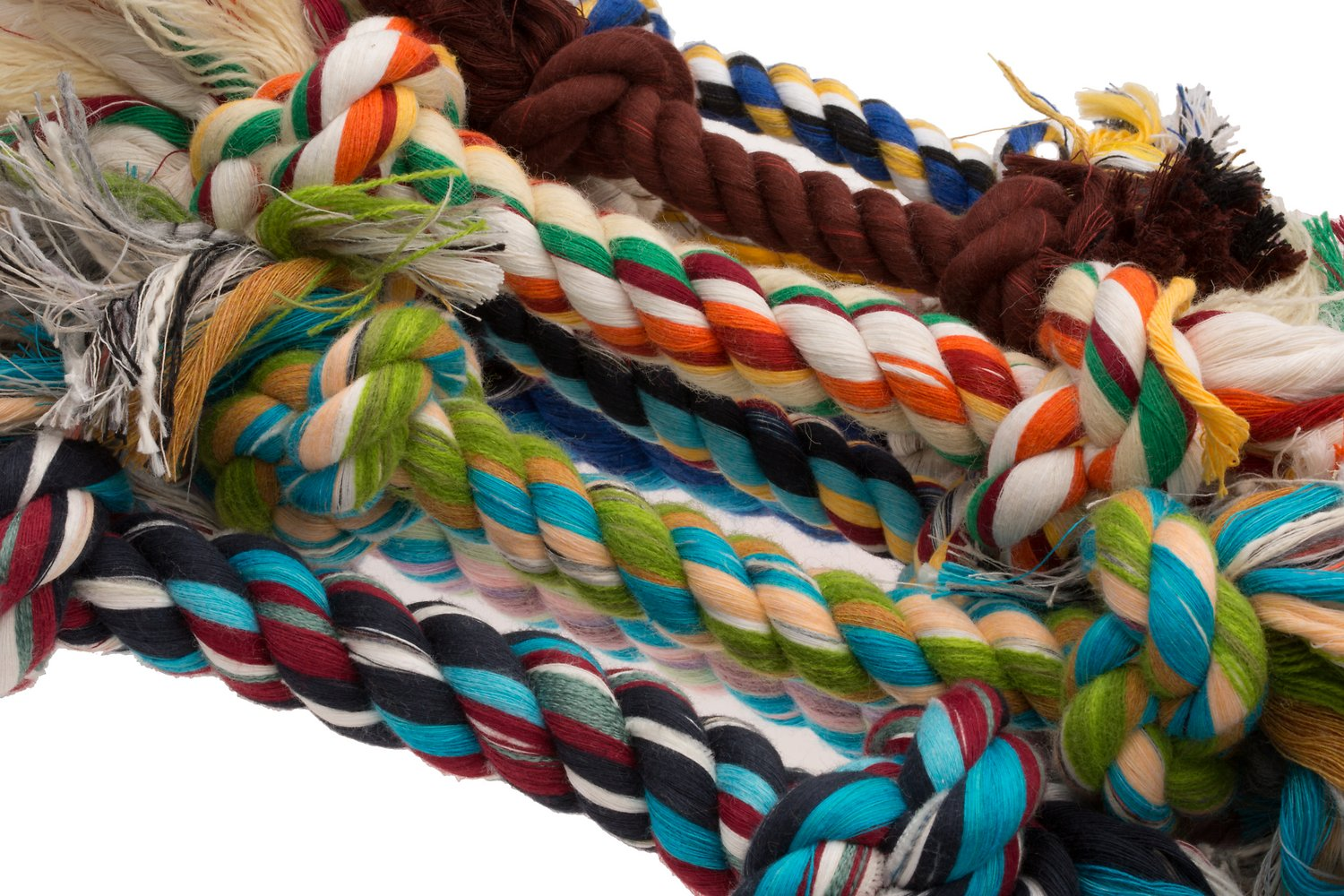 Booda Multi Color  Knot Rope Bone Dog Toy