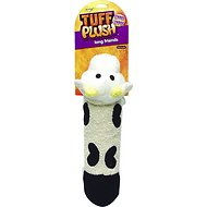 Booda Tuff Plush Long Friend Dog Toy, Cow