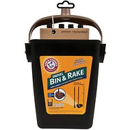 Arm & Hammer Swivel Bin & Rake Backyard Waste Pickup