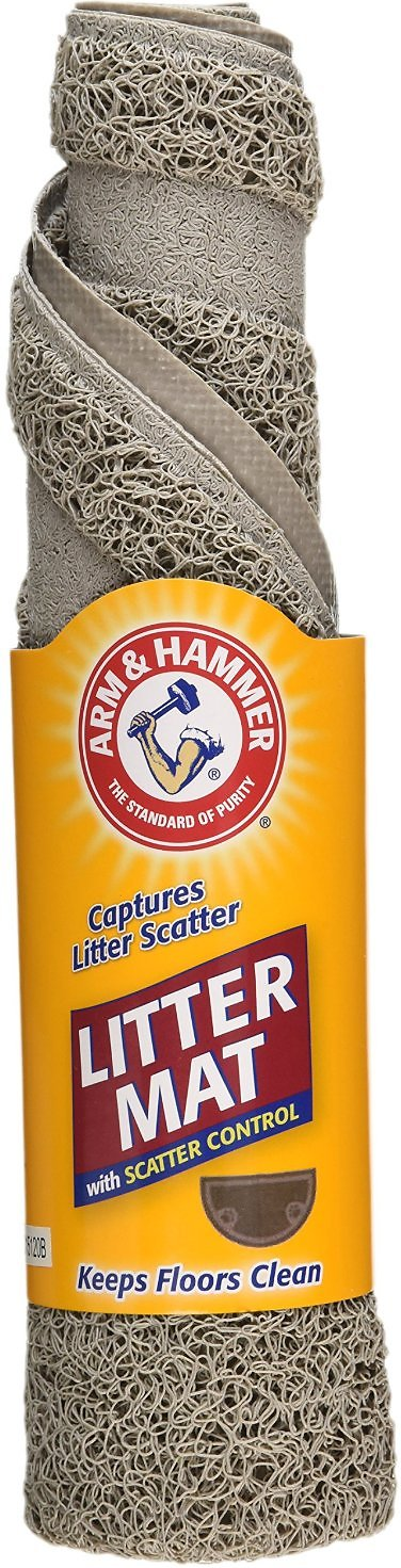 arm u0026 hammer half circle cat litter mat pearl tan