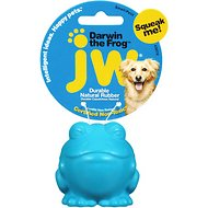 JW Pet Darwin the Frog Squeaky Dog Toy, Small