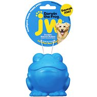 JW Pet Darwin the Frog Squeaky Dog Toy, Color Varies, Medium