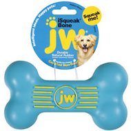 JW Pet iSqueak Bone Dog Toy, Color Varies, Medium