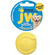 JW Pet iSqueak Bouncin' Baseball Dog Toy, Small