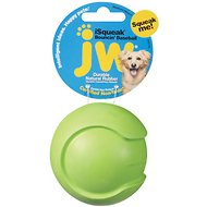 JW Pet iSqueak Bouncin' Baseball Dog Toy, Medium