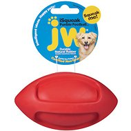 JW Pet iSqueak Funble Football Dog Toy, Small