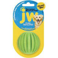 JW Pet Tanzanian Mountain Treat Ball Dog Toy, Color Varies, Small