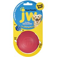 JW Pet Treat Puzzler Ball Dog Toy, Color Varies, Medium