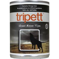 PetKind Tripett Green Bison Tripe Grain-Free Canned Dog Food, 13-oz, case of 12