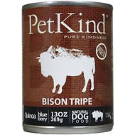 PetKind That's It! Bison Tripe Grain-Free Canned Dog Food, 13-oz, case of 12
