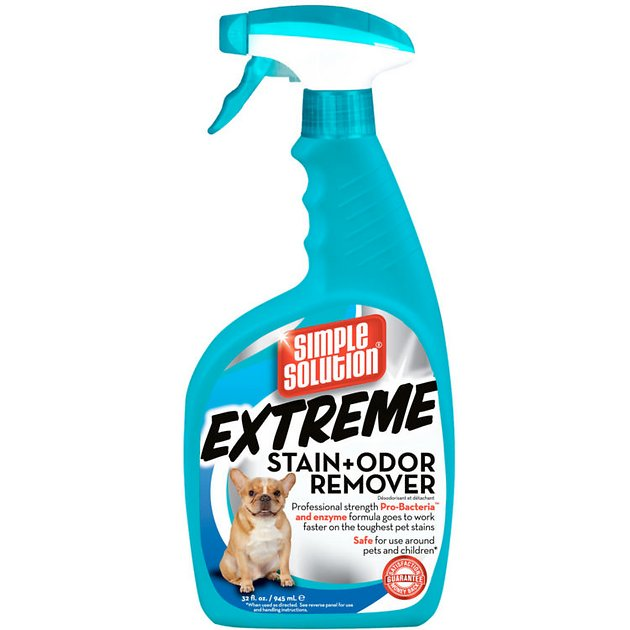 simple solution extreme stain odor remover 32 oz bottle. Black Bedroom Furniture Sets. Home Design Ideas