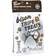 PetKind Grain-Free Green Bison Tripe Formula Dog & Cat Treats, 6-oz bag