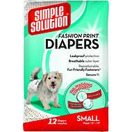 Simple Solution Fashion Print Disposable Diapers, Small