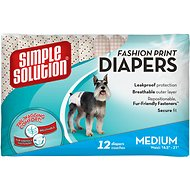 Simple Solution Fashion Print Disposable Diapers, Medium
