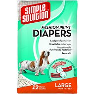 Simple Solution Fashion Print Disposable Diapers, Large