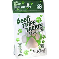 PetKind Grain-Free Green Beef Tripe Formula Dog & Cat Treats, 6-oz bag