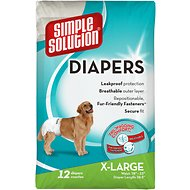 Simple Solution 12 Disposable Diapers, X-Large