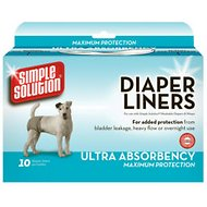 Simple Solution Diaper Liners Ultra Absorbency, 10-count