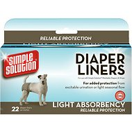 Simple Solution Diaper Liners Light Absorbency, 22-count