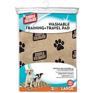 Simple Solution Washable Training & Travel Pad, Large, 2 pack