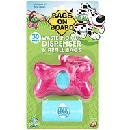 Bags on Board Bone Dispenser, Pink Marble, 1 dispenser, 30 bags