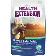 Health Extension Grain-Free Chicken & Turkey Recipe Dry Dog Food, 23.5-lb bag