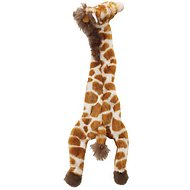 Ethical Pet Skinneeez Giraffe Stuffingless Dog Toy, 20-in