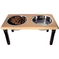 Ethical Pet Posture Pro Adjustable Elevated Pet Bowls, Oak, 8 cup