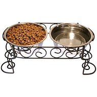Ethical Pet Mediterranean Double Diner Elevated Pet Bowls, Large