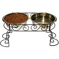 Ethical Pet Mediterranean Double Diner Elevated Pet Bowls, X-Large