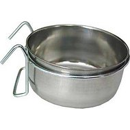 Ethical Pet Stainless Steel Coop Cup Wire Hanger Kennel Pet Bowl, 20-oz