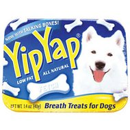 Chomp Yip Yap Breath Freshener Dog Treats, 1.4-oz tin