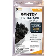 Sentry FiproGuard Flea & Tick Squeeze-On for Dogs, up to 22 lbs, 6 treatments