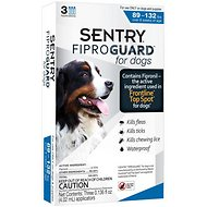 Sentry FiproGuard Flea & Tick Squeeze-On for Dogs, 89-132 lbs, 3 treatments