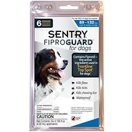 Sentry FiproGuard Flea & Tick Squeeze-On for Dogs, 89-132 lbs, 6 treatments