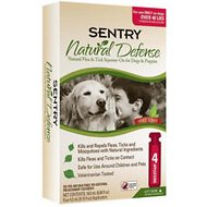 Sentry Natural Defense Flea & Tick Squeeze-On for Dogs, Over 40-lbs