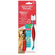 Sentry Petrodex Veterinary Strength Poultry Fresh Mint Dual Toothpaste Dental Care Kit for Dogs