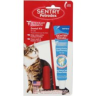 Sentry Petrodex Veterinary Strength Malt Toothpaste Dental Care Kit for Cats