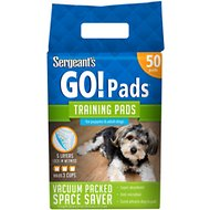 Sergeant's Yippee Skippy Go Doggie Training Pads, 50 count