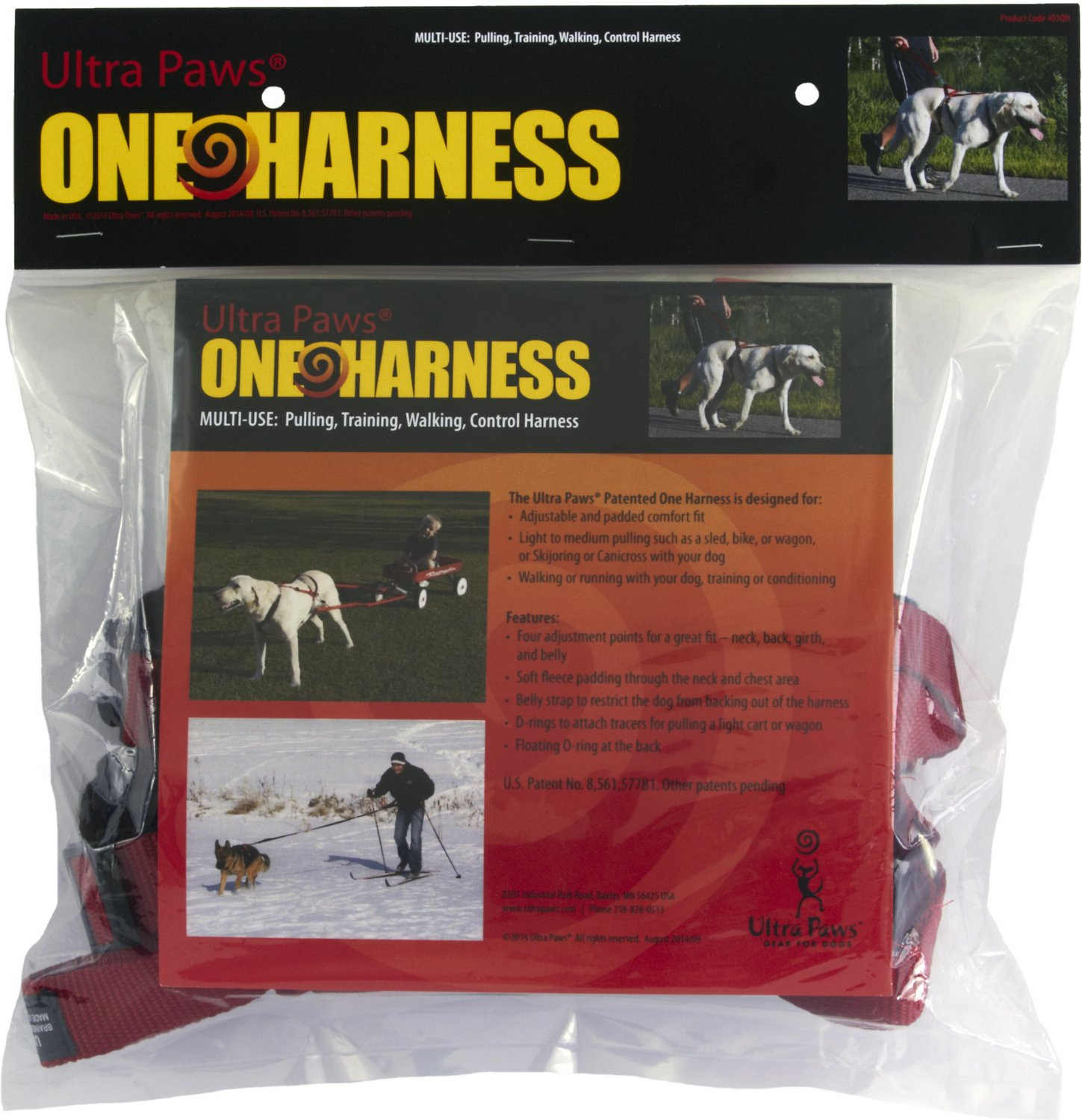 Ultra Paws One Adjustable Pulling Dog Harness, Large - Chewy.com