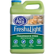 Cat's Pride Premium Fresh & Light Fragrance Free Multi-Cat Scoopable Cat Litter, 15-lb jug