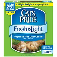 Cat's Pride Premium Fresh & Light Fragrance Free Multi-Cat Scoopable Cat Litter, 21-lb box