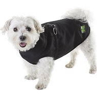 Pawz 1Z Coat with Built-In Dog Harness, Black, Size 14