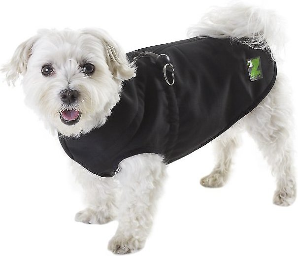 Pawz 1Z Coat with Built-In Dog Harness, Black, Size 16 - Chewy.com