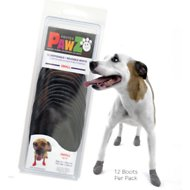Pawz Waterproof Dog Boots, Black, Small