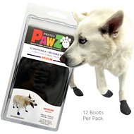 Pawz Waterproof Dog Boots, Black, Medium
