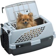 Firstrax Noz2Noz Pet Suite Double Door Plastic Kennel, 23-inch