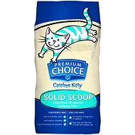 Premium Choice Carefree Kitty Unscented All Natural Solid Scoop Cat Litter, 50-lb bag